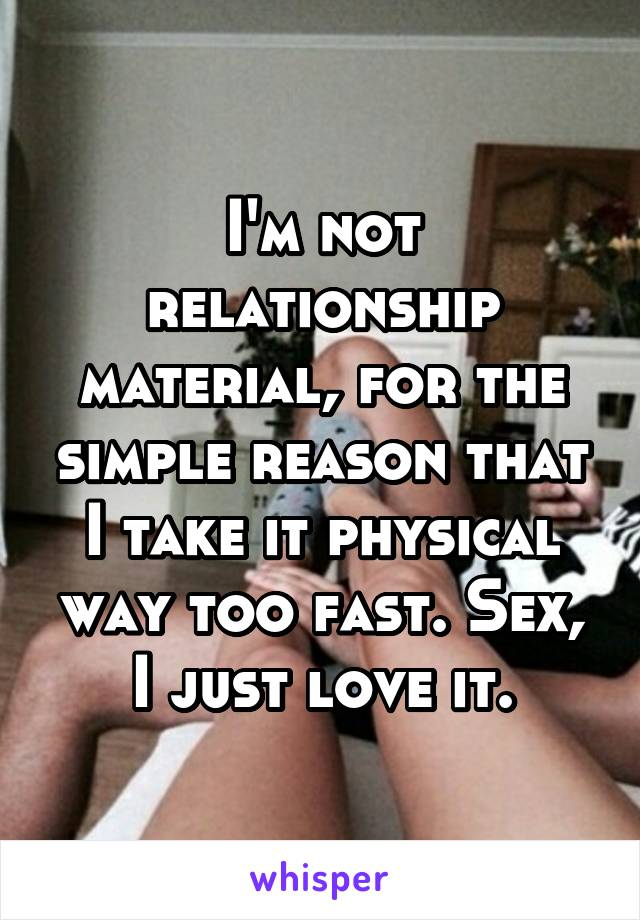 how fast to take a relationship