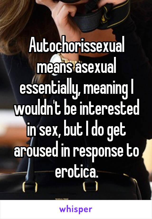 Autochorissexual