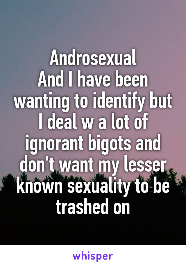 Lesser known sexualities