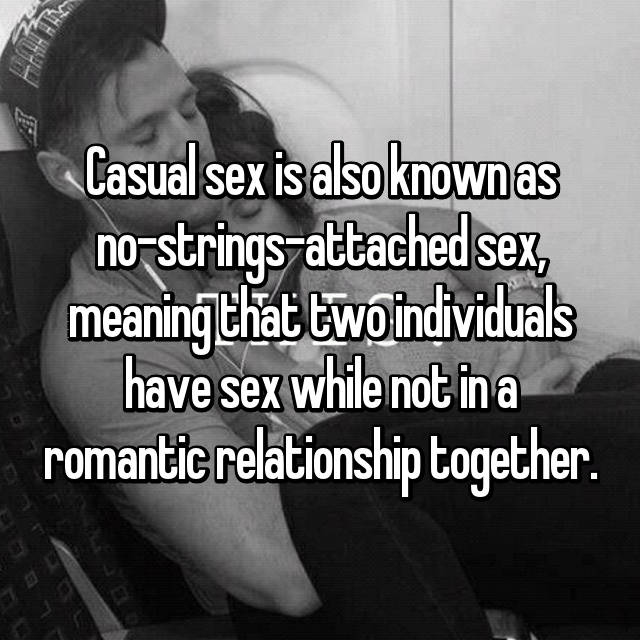 What is the meaning of casual sex