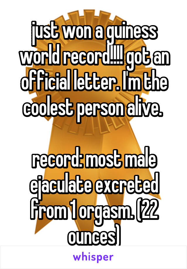 world record for most orgasms