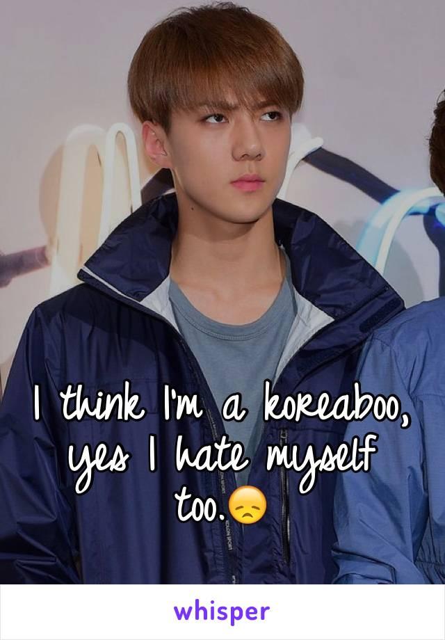 I think I'm a koreaboo, yes I hate myself too.😞