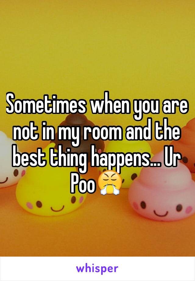 Sometimes when you are not in my room and the best thing happens... Ur Poo😤