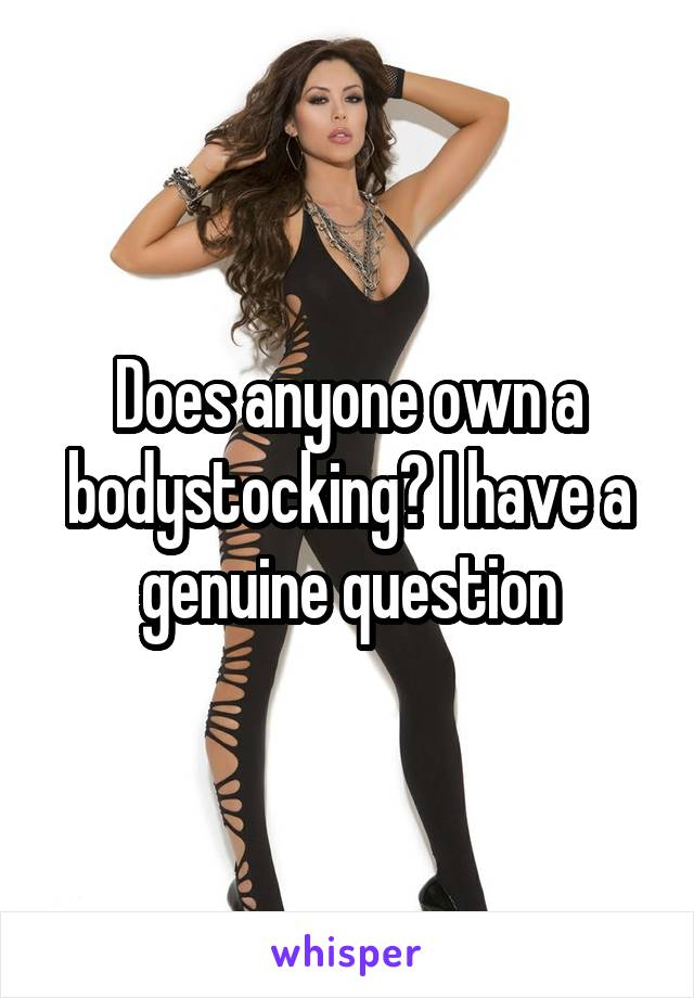 Does anyone own a bodystocking? I have a genuine question