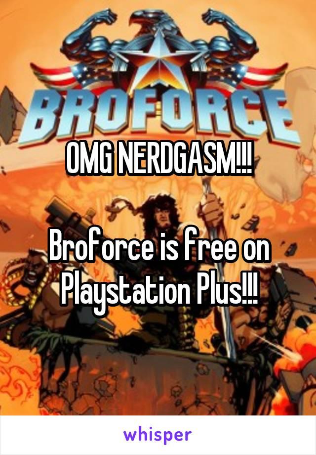 OMG NERDGASM!!!  Broforce is free on Playstation Plus!!!