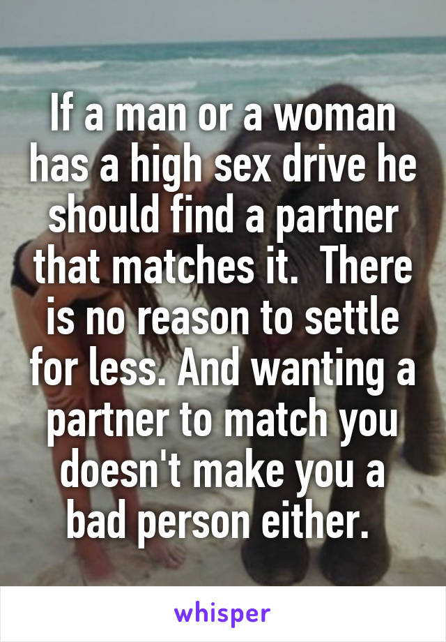 What causes a high sex drive in females