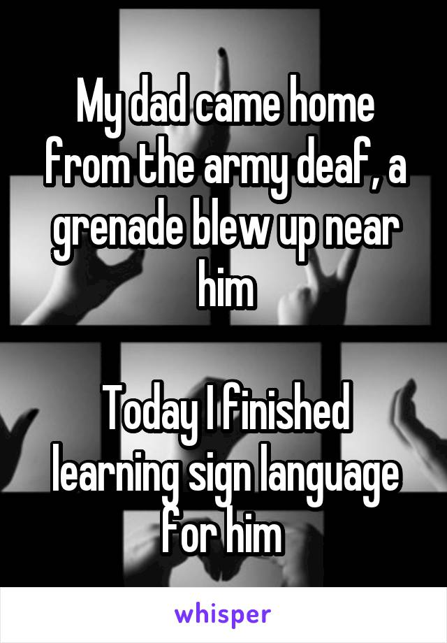 My dad came inside me