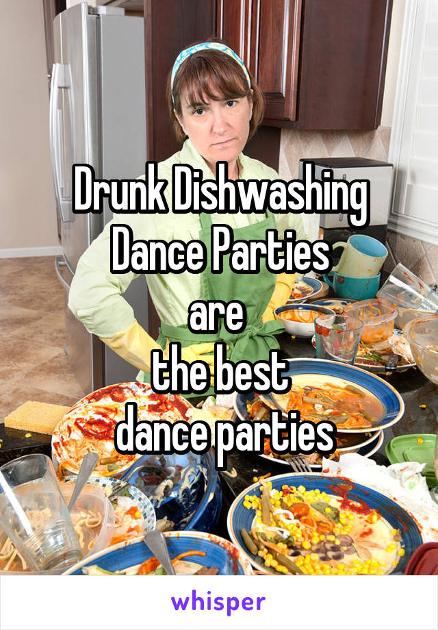 Drunk Dishwashing Dance Parties are  the best  dance parties