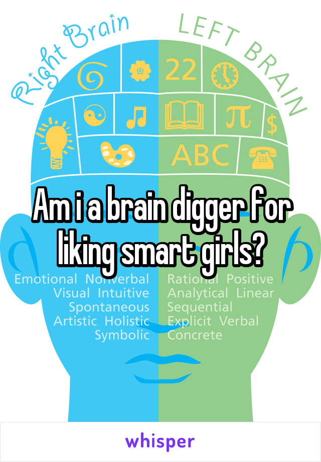 Am i a brain digger for liking smart girls?