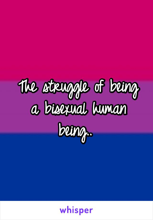 The struggle of being a bisexual human being..