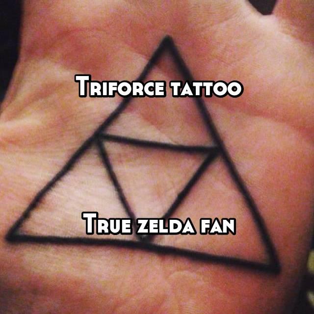 Triforce tattoo     True zelda fan