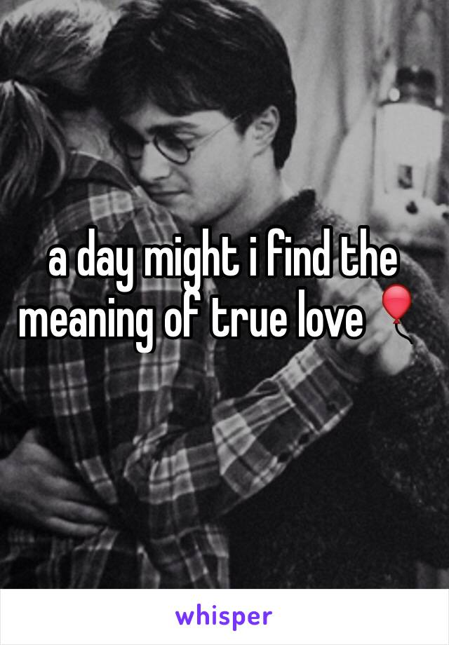 a day might i find the meaning of true love🎈