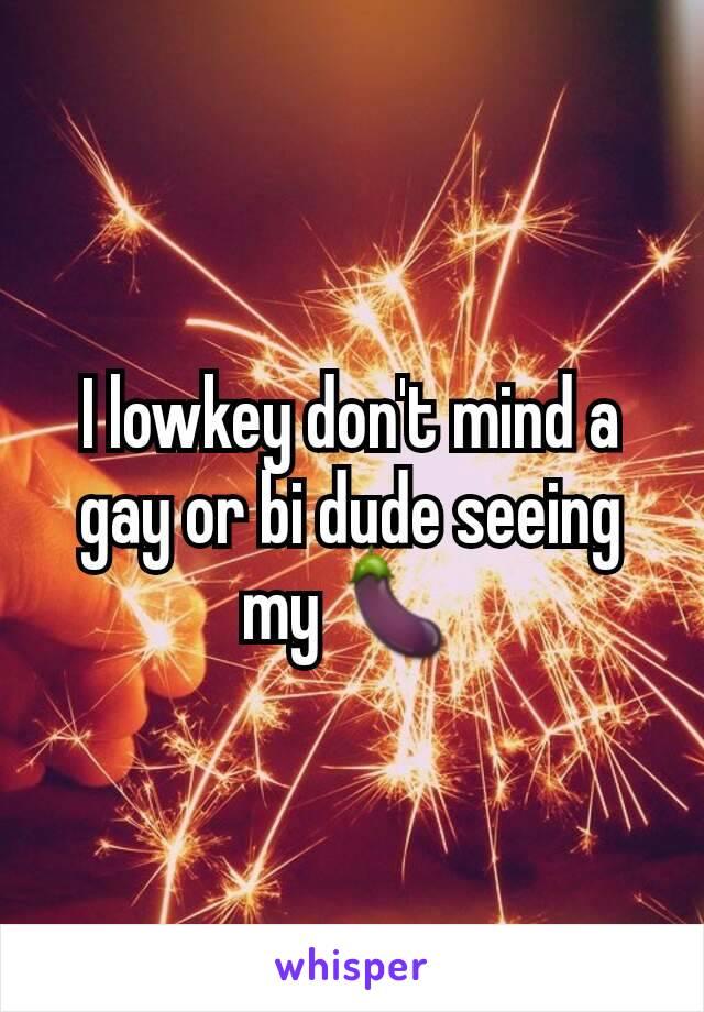 I lowkey don't mind a gay or bi dude seeing my 🍆