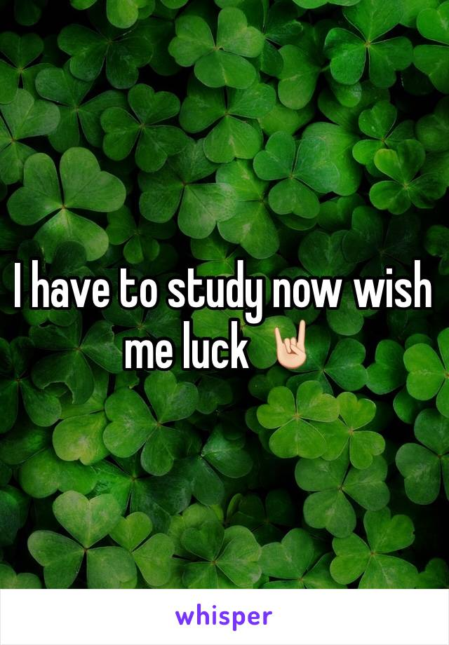 I have to study now wish me luck 🤘🏻