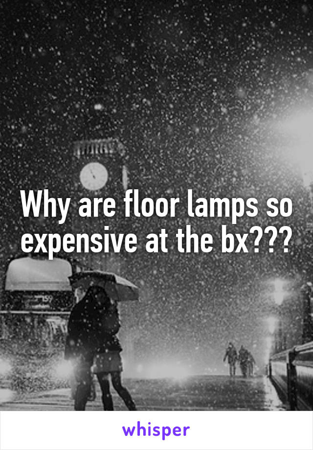Why are floor lamps so expensive at the bx???