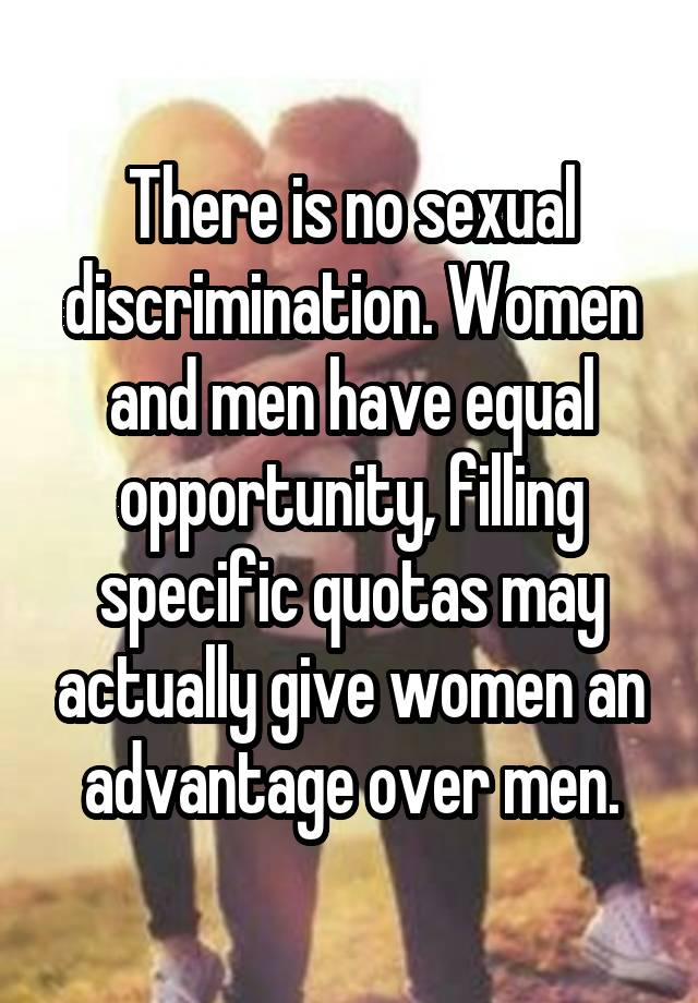 men and women have equal opportunities
