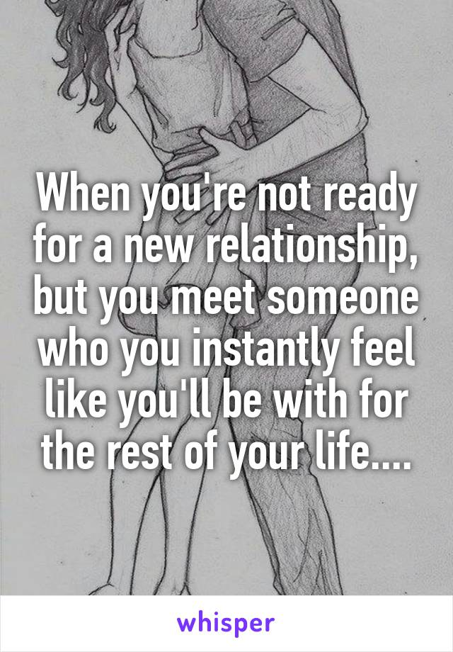 Dating someone who is not ready for a relationship