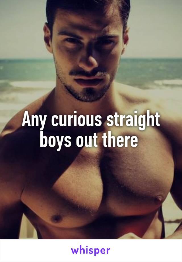 Curious straight boys