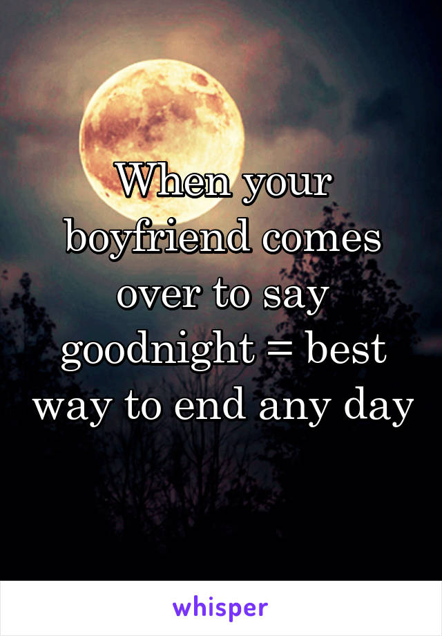 The best way to say good night