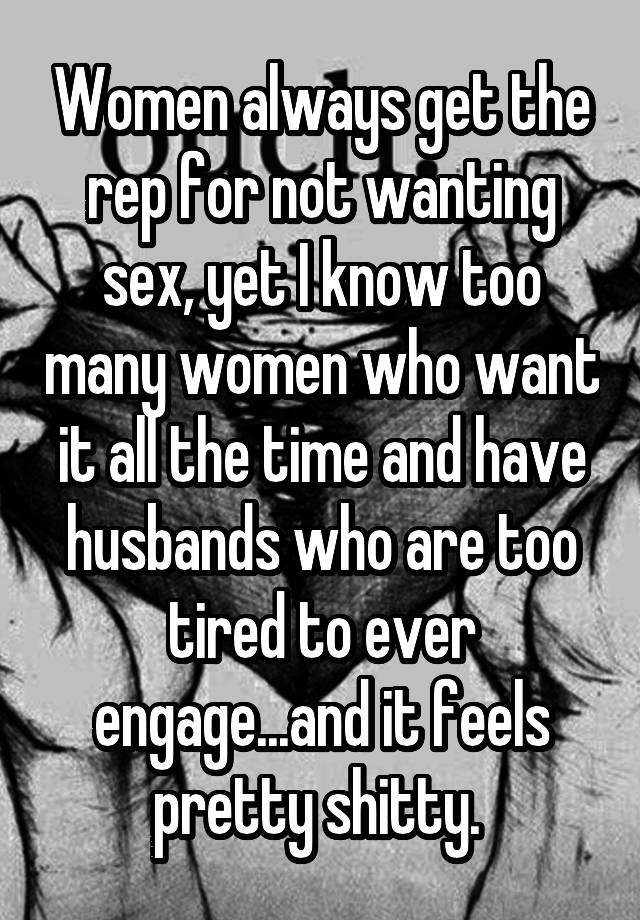 Husband Wants Too Much Sex