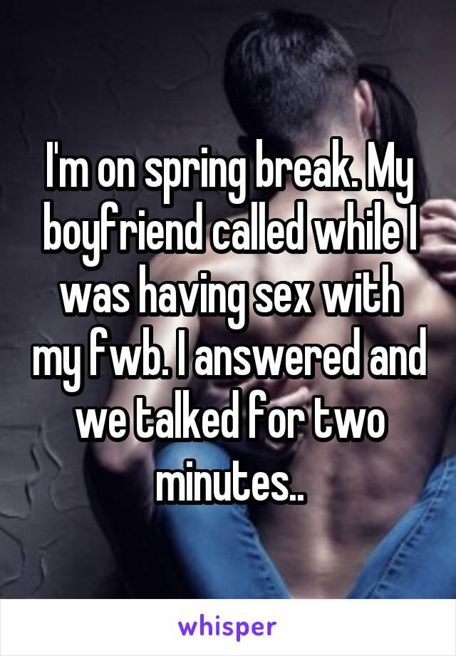While Her Boyfriend Waits