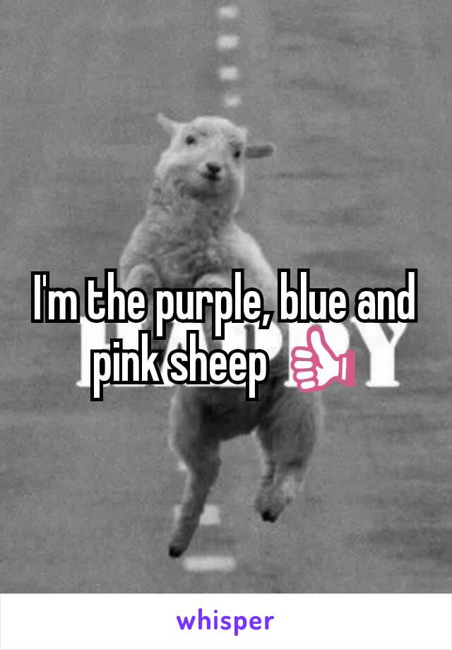 Im The Purple Blue And Pink Sheep