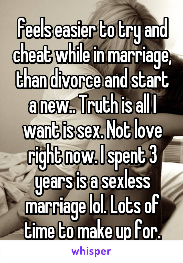 Sexless marriage should i cheat