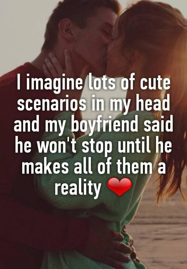 Cute dating scenarios