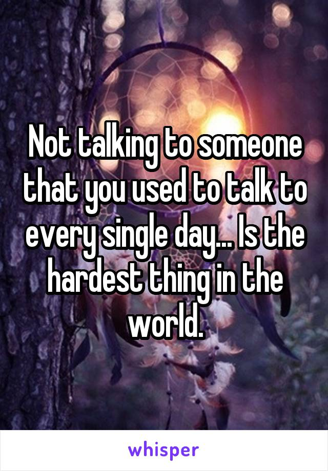 Single and talk to no one