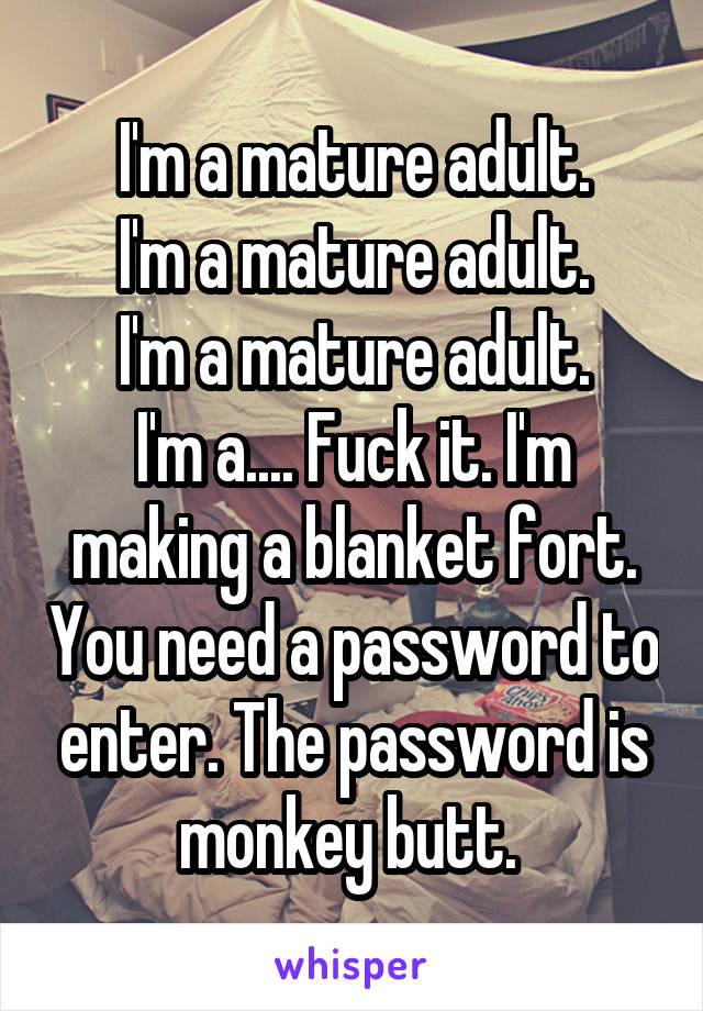 adult password Mature