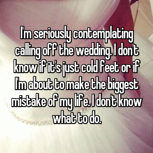 I got cold feet before i got married because i thought my fiance is i got cold feet before i got married because i thought my fiance is gay junglespirit Choice Image
