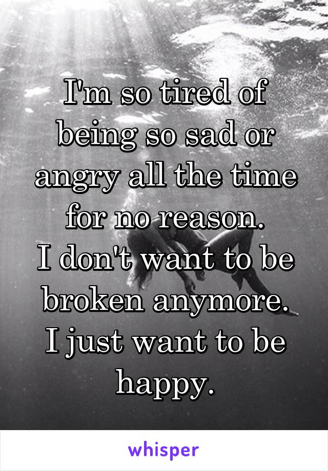 Reasons for being angry all the time