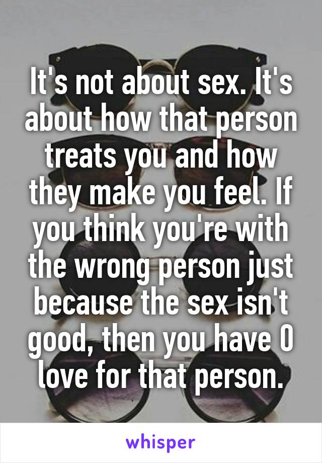When sex isnt good