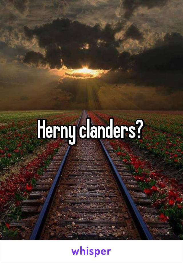 herny clanders