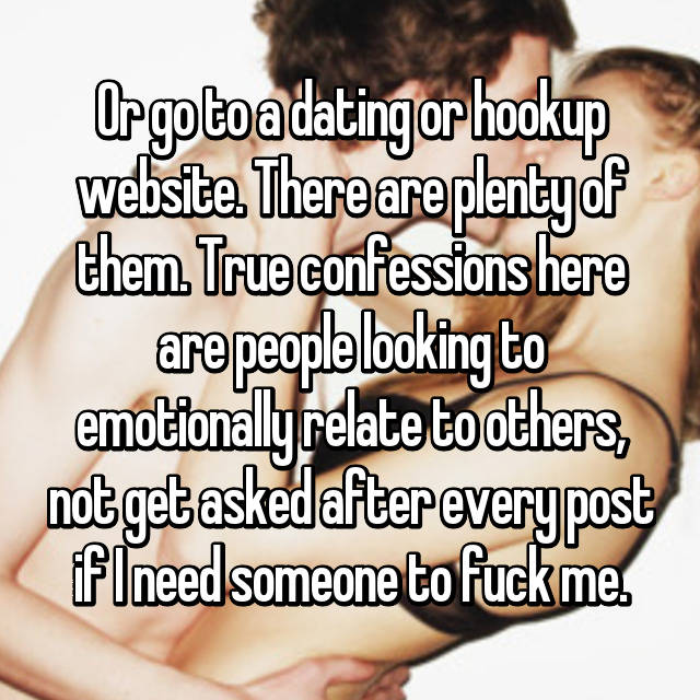 True hookup confessions