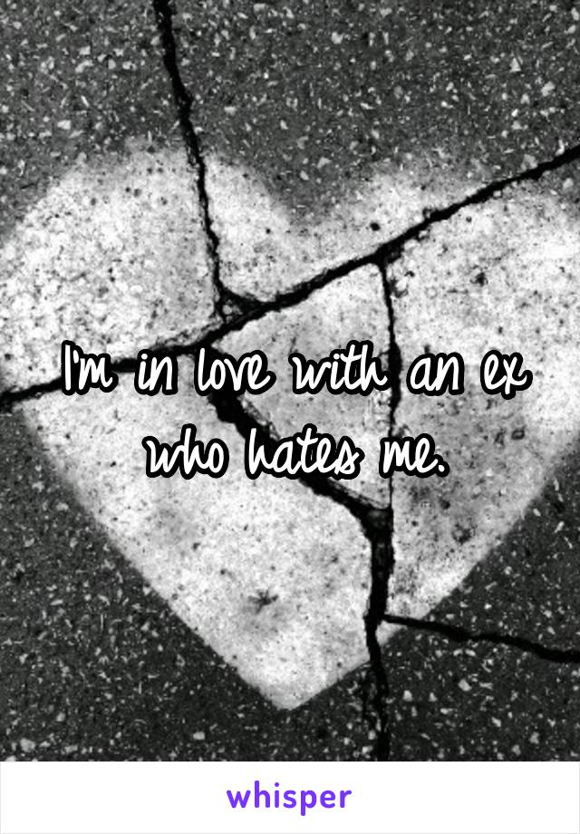 I'm in love with an ex who hates me.