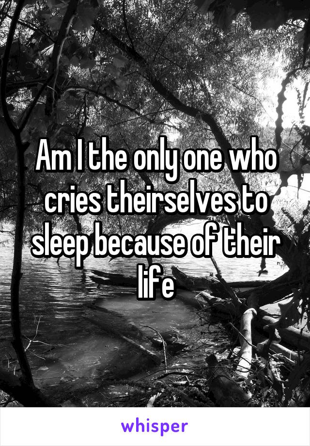 Am I the only one who cries theirselves to sleep because of their life