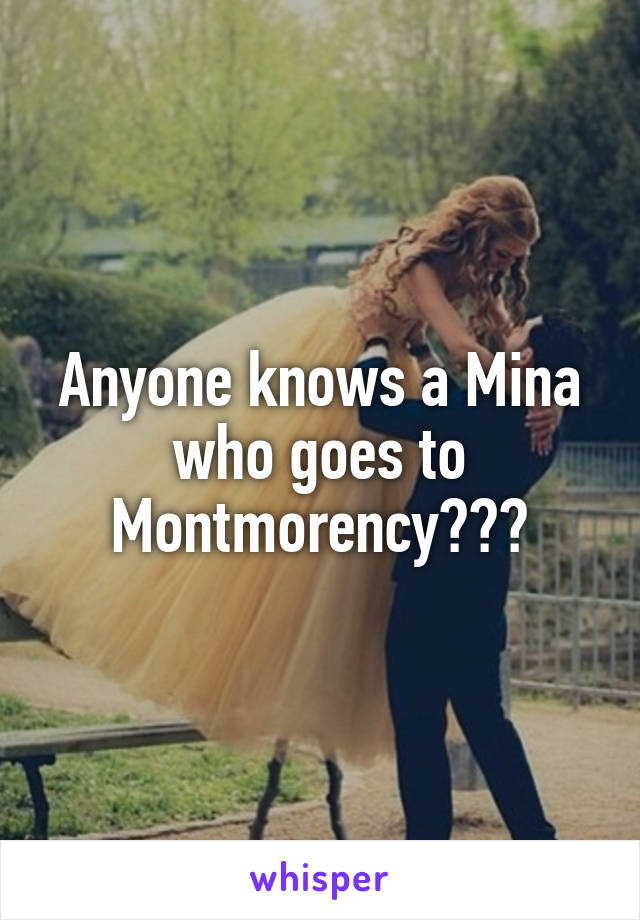 Anyone knows a Mina who goes to Montmorency???