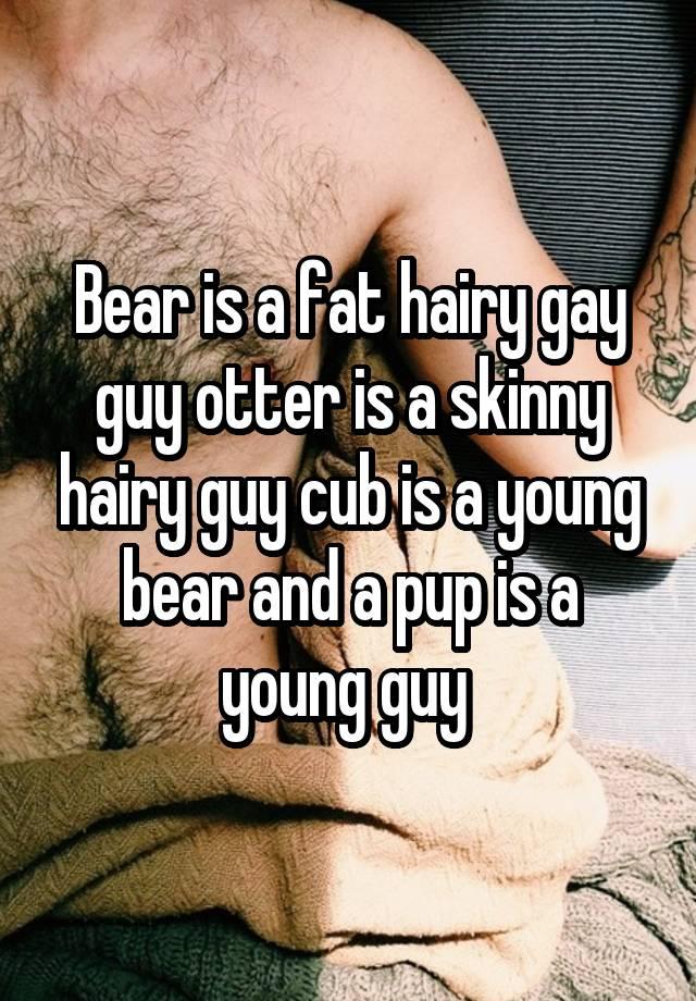 Skinny hairy guys