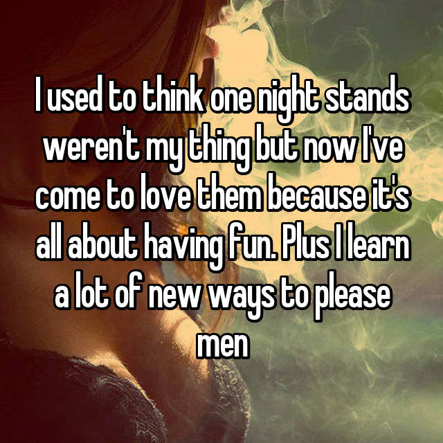 why women have one night stands