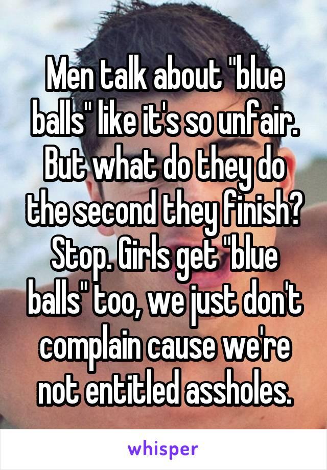 why do men get blue balls
