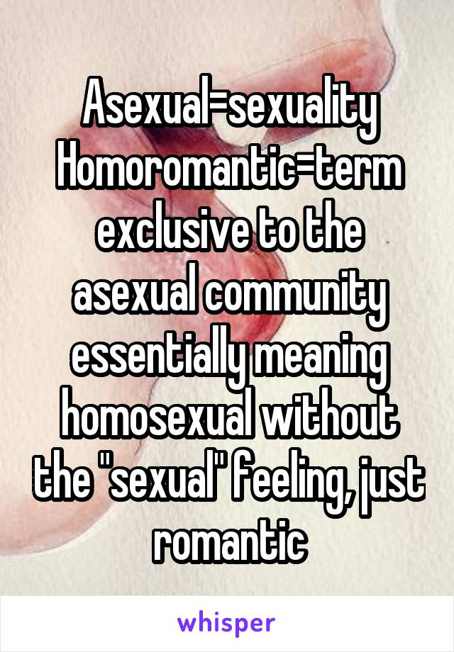 Homoromantic vs homosexual rights
