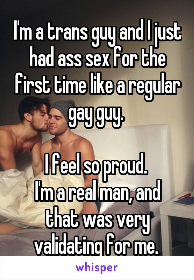 Gay ass first time