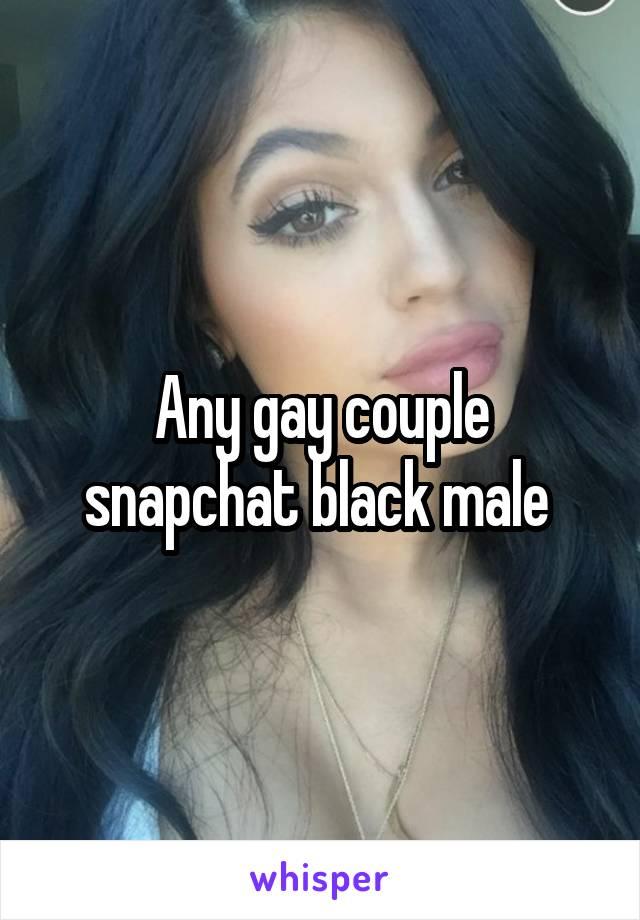 Gay couple snapchat
