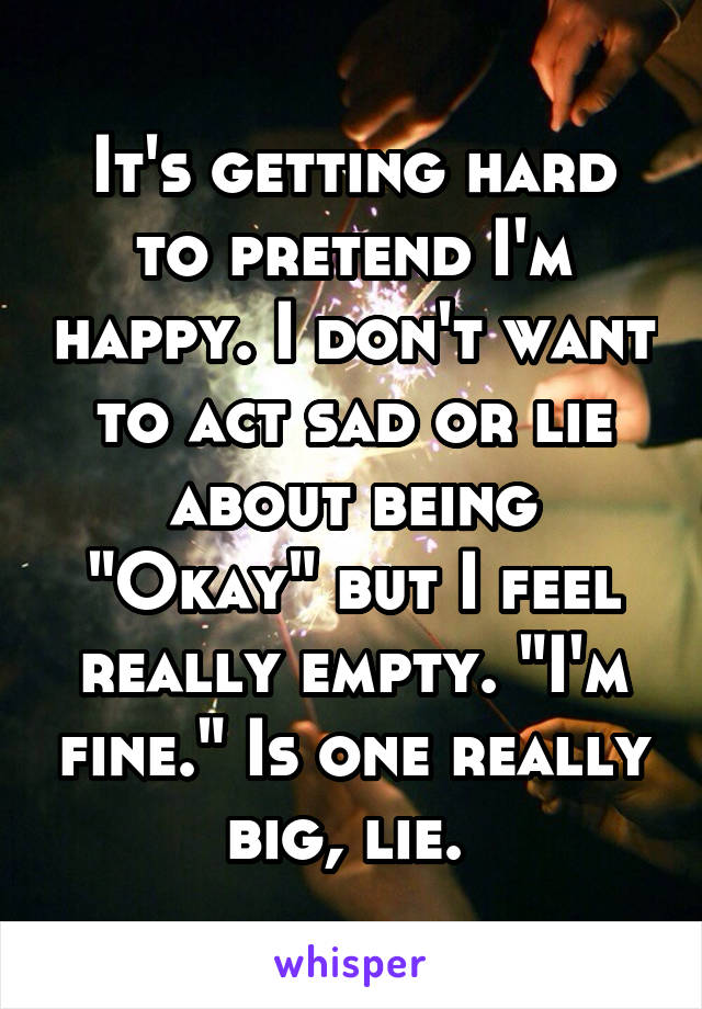 it is okay to pretend How to pretend to be happy while you don't want to hide how you feel all the time, there may be moments or situations when you need to pretend to be happy smile and uncross your body to appear open and happy adjust your mood temporarily.