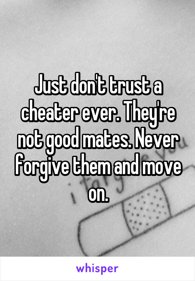 best way to forgive a cheater