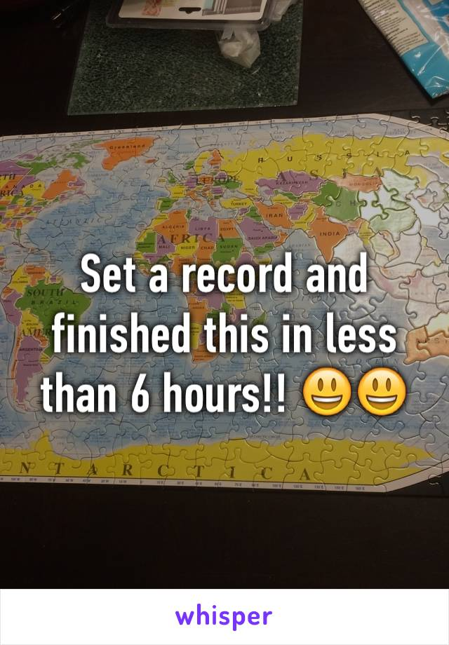 Set a record and finished this in less than 6 hours!! 😃😃