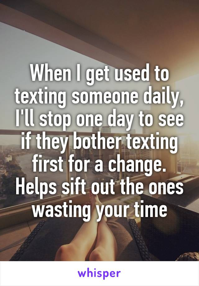 Texting someone for the first time