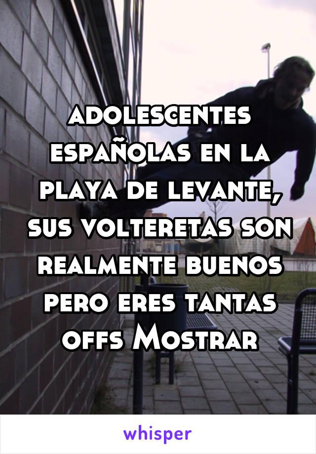 adolescentes españolas en la playa de levante, sus volteretas son realmente buenos pero eres tantas offs Mostrar