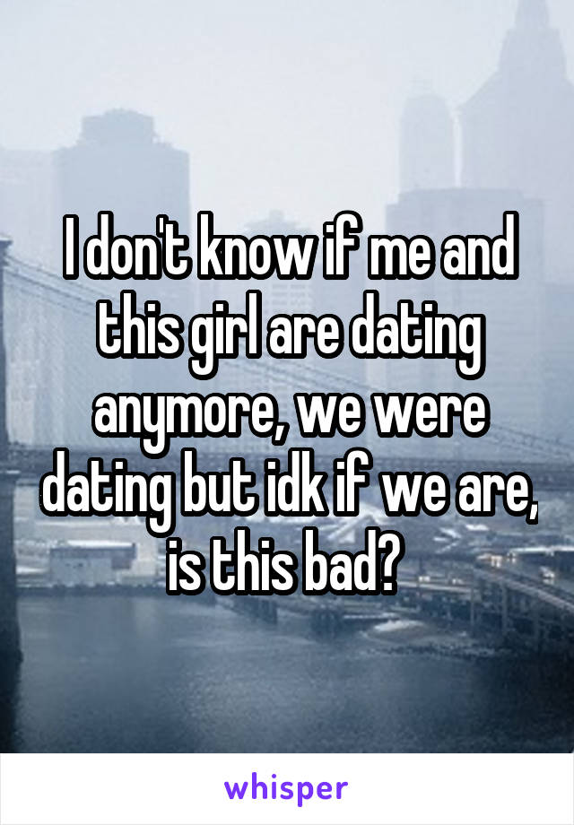 I dont feel like dating anymore